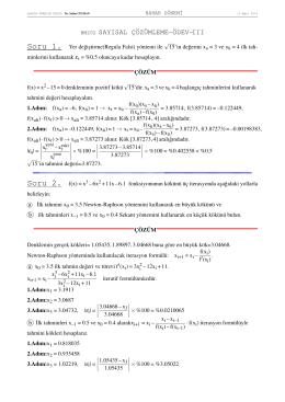 Soru 2. f(x) = x