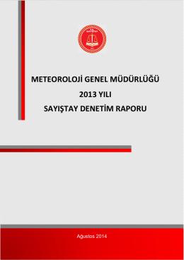 METEOROLOJİ GENEL MÜDÜRLÜĞÜ 2013 YILI