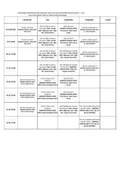 Ders Programı