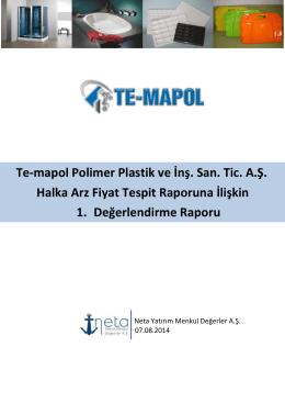 Te-mapol Polimer Plastik ve İnş. San. Tic. A.Ş. 1