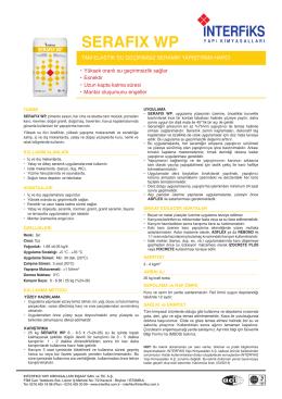 SERAFIX WP - İnterfiks Yapı Kimyasalları