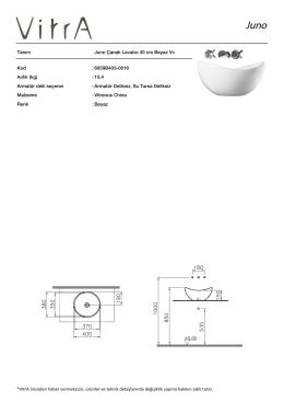 Tanım Juno Çanak Lavabo 40 cm Beyaz Vc Kod :6059B403