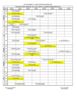 UÜ FEN-EDEBİYAT FAKÜLTESİ BİYOLOJİ BÖLÜMÜ 2014-2015