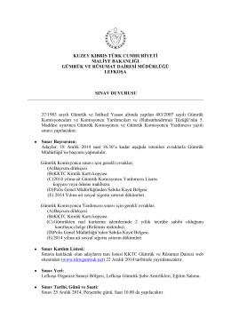 Gümrük Komisyoncuları ve Komisyoncu Yardımcıları Sınavı