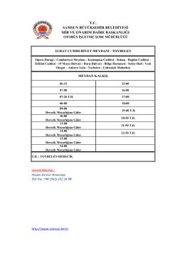 samsun büyükşehir belediyesi tc mib ve onarım daire başkanlığı