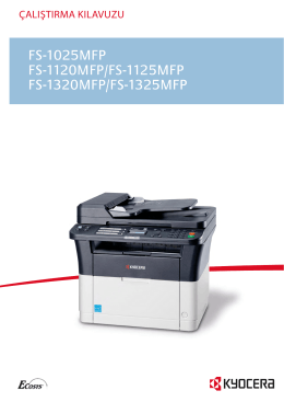 FS-1025MFP FS-1120MFP/FS-1125MFP FS