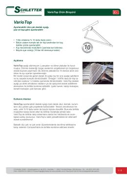 VarioTop - Schletter GmbH