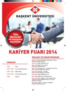 kariyer fuarı 2014 - Başkent Üniversitesi