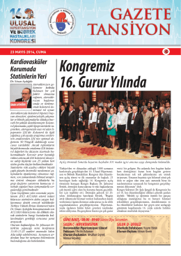 23 Mayıs 2014 - Türk Hipertansiyon ve Böbrek Hastalıkları Derneği