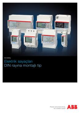 Elektrik sayaçları DIN rayına montajlı tip