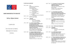 Program - İzmir Üniversitesi