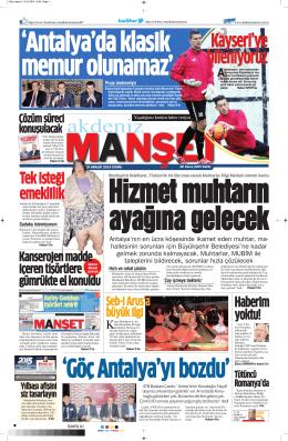 Ŝ - Akdeniz Manşet
