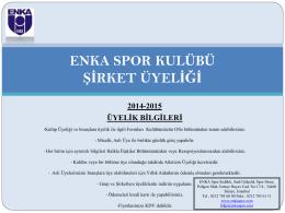 2014-2015 üyelik bilgileri