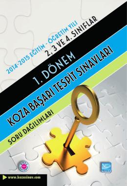 2, 3 ve 4. Sınıflar 1. Dönem Başarı Tespit Sınavı Soru Dağılımları