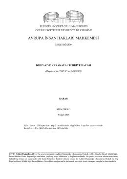 4 Mart 2014 tarihli Dilipak ve Karakaya v. Türkiye