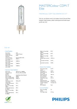 Product Leaflet: CDM-T Elite 50W /930, /942 G12