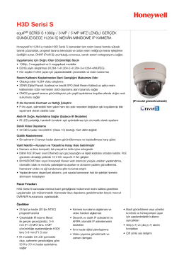 H3D Serisi S - Honeywell Security