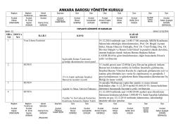 11 aralık 2014 tarihinde yapılan yönetim kurulu