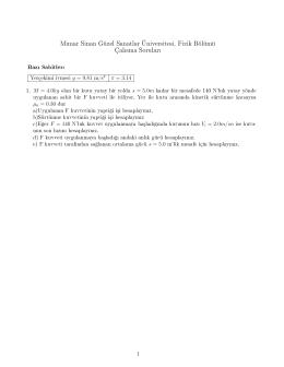 1 Numaralı sayfa - Mimar Sinan Güzel Sanatlar Üniversitesi