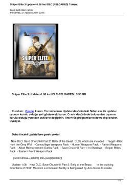 Sniper Elite 3 Update v1.08 Incl DLC