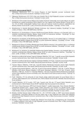 eylül 2014 meclis karar özetleri