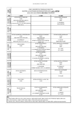 2014-2015 Güz Dönemi ARA Sınav Programı v.4