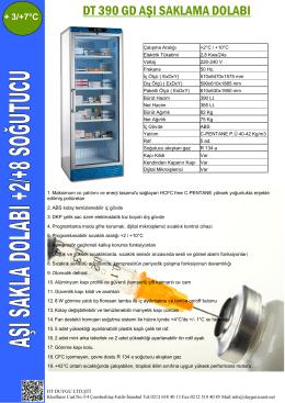 dt 390 gd aşı saklama dolabı