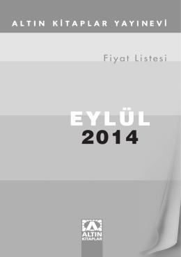 EYLÜL 2014 - Altın Kitaplar