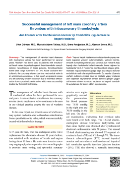 Successful management of left main coronary artery thrombus with