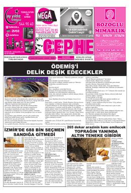 13.08.2014 Tarihli Cephe Gazetesi