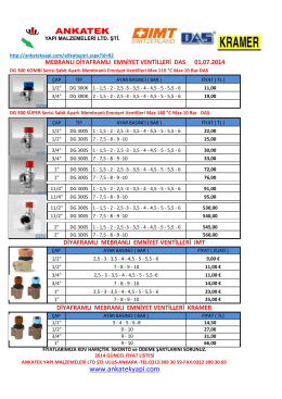 Ürün Fiyat Listesini görmek için tıklayınız.
