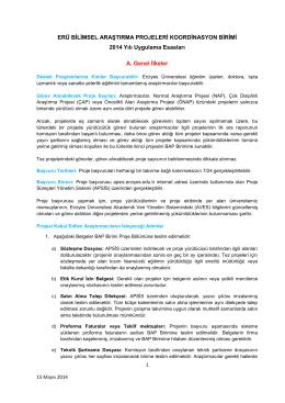 (pdf)... - ERÜ - BAP | Erciyes Üniversitesi Bilimsel Araştırma Projeleri