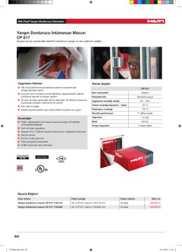 Yangın Durdurucu İntümesan Macun CP 617