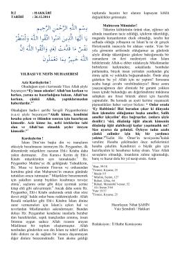 26.12.2014 Yılbaşı ve Nefis Muhasebesi