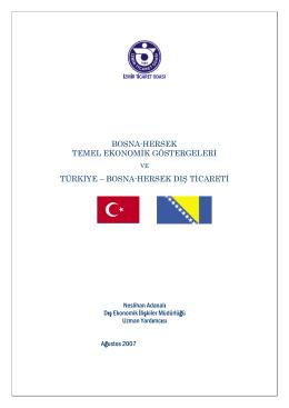 BOSNA HERSEK - İzmir Ticaret Odası