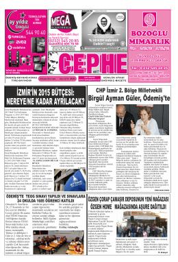 28.11.2014 Tarihli Cephe Gazetesi