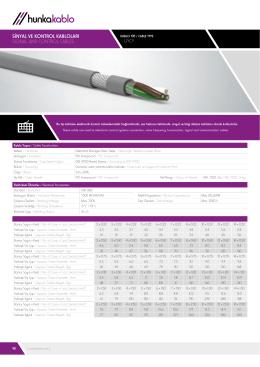 koaksiyel kablolar / coaxıal cables lıycy sinyal ve kontrol kabloları