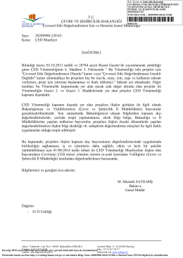 ÇED Yönetmeliği Uygulamaları - Çevre ve Şehircilik Bakanlığı