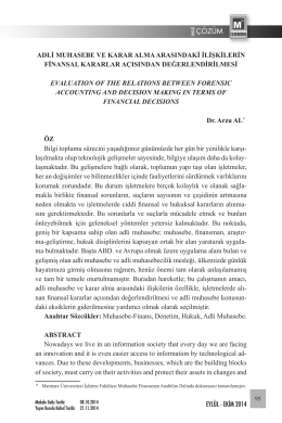 ÇÖZÜM - İstanbul Serbest Muhasebeci Mali Müşavirler Odası