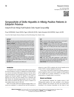 Seropositivity of Delta Hepatitis in HBsAg Positive Patients in