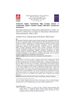 Kuram ve Uygulamada Eğitim Yönetimi Dergisi 2003