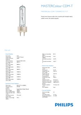 Product Leaflet: CDM-T 35W /830, /842 G12
