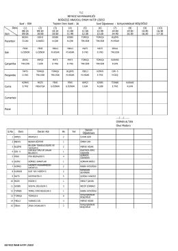 10 Şubat 2014 tarihi itibariyle sınıfların ders programını görmek için