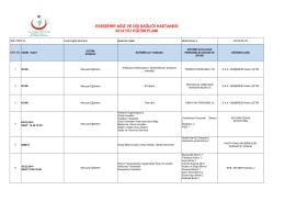 2014 Eğitim Planı - Eskişehir Ağız ve Diş Sağlığı Merkezi