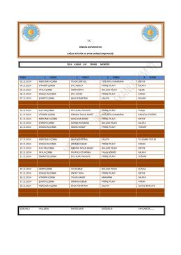 tc bingöl üniversitesi sağlık kültür ve spor dairesi başkanlığı 2014