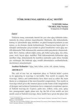 ÖLMEZ, Filiz Nurhan-TÜRK DOKUMALARINDA AĞAÇ MOTİFİ