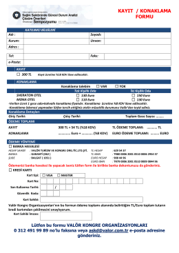 kayıt / konaklama formu