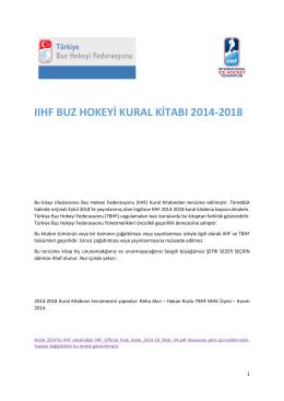 2014-2018 Kural Kitabı - Türkiye Buz Hokeyi Federasyonu