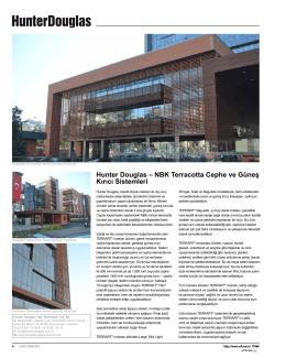 Hunter Douglas – NBK Terracotta Cephe ve Güneş Kırıcı