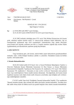GENELGE NO: 1756 (2014/4) - Tapu ve Kadastro Genel Müdürlüğü